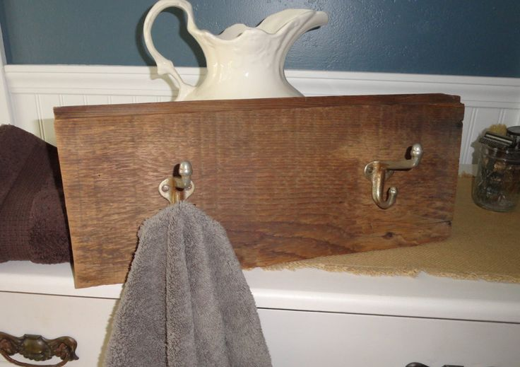 Reclaimed Wood Shiplap Farmhouse Wall Towel/Hat/Coat Rack & Hanger, Country Farmhouse Bathroom/Kitchen/Entry Way Wall Rustic Wall Hook Rack by DeesCountryCharms on Etsy