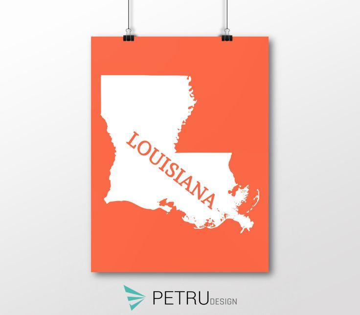 Louisiana print - Louisiana art - Louisiana poster - Louisiana wall art - Louisiana printable poster - Louisiana map - Louisiana Sunsetart by Exit8Creatives on Etsy