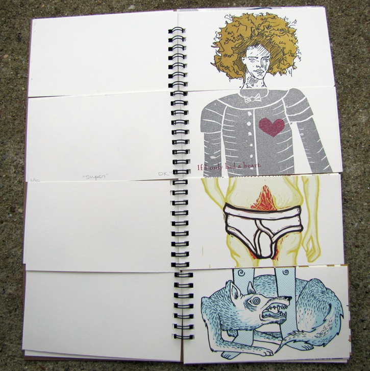 Collaborative exquisite corpse book by Hannah Batsel and 14 other artists.