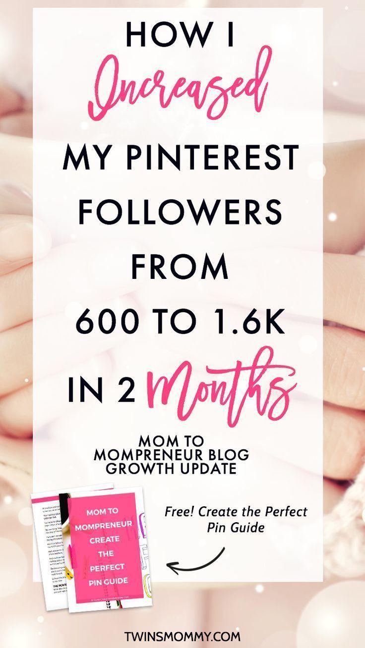 Month 2 Blog Growth Update 1 6k Pinterest Followers Later Twins Mommy Blog Growth Blog Tips Pinterest Marketing Strategy