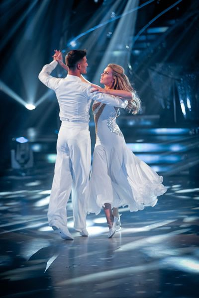 Abbey Clancy and Aljaz Skorjanec In Week 1 Strictly Come Dancing 2013