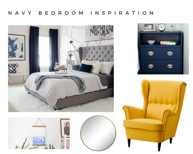 17+ Ideas About Navy Yellow Bedrooms On Pinterest