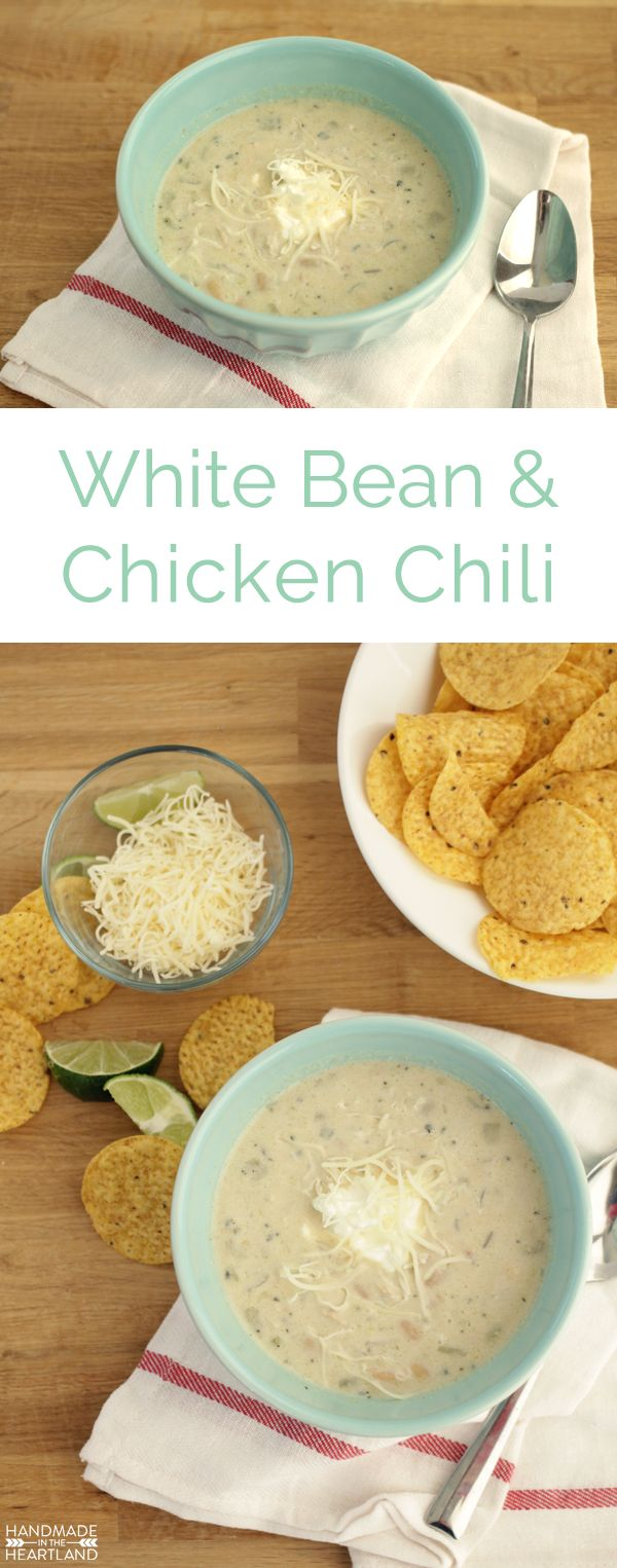 Delicious EASY White Chicken Chili Recipe that is sure to be your new favorite soup!