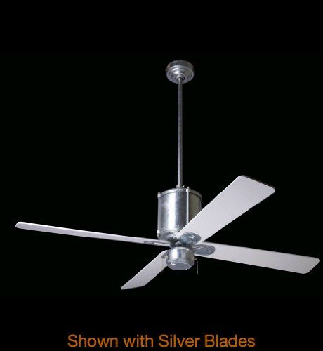 Modern Fan Company - IND-GV-52-MP-NL-001 - Industry Fan Height: 17 inches. Fan Speed Control included. Blade Finish: Maple - Blade Span: 52 inches. Fan Wattage: 85 - CFM Per Watt: 74. Collection: Industry.