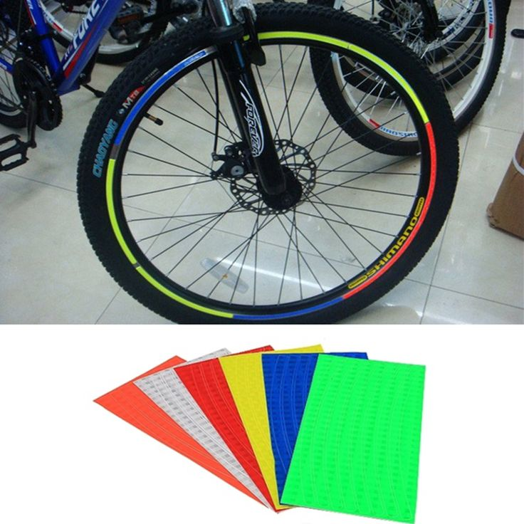 4PCS Outdoor Bicycle Sticker Mountain Bike Sticker Bicycle reflector Fluorescent MTB Cycling Wheel Rim Reflective Stickers