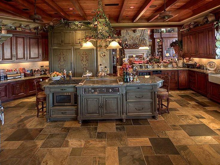 9-mediterranean-style-waterfront-estate | Home Interior Design ...love the floor