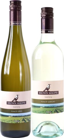 2011 Brown Magpie Single Vineyard Pinot Gris/Grigio From a boutique Geelong winery with a cult local following Both the Gris and Grigio rated 94 points by Halliday Two very different, high quality wines from the same fruit $119 for a pack of six