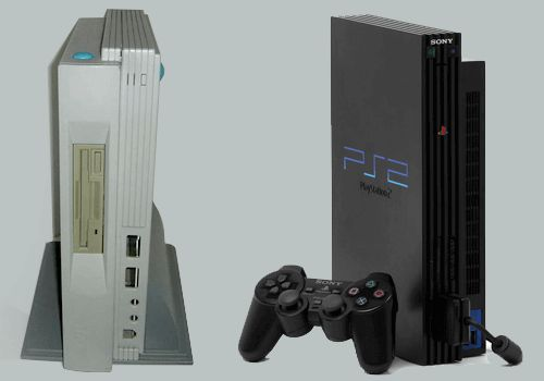 The PlayStation 2's external design wasn't an original concept by Sony but was instead borrowed from which unreleased console?