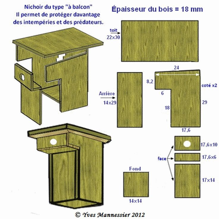 nichoirs oiseaux type balcon mangeoires et nichoirs oiseaux pinterest nichoir oiseau. Black Bedroom Furniture Sets. Home Design Ideas