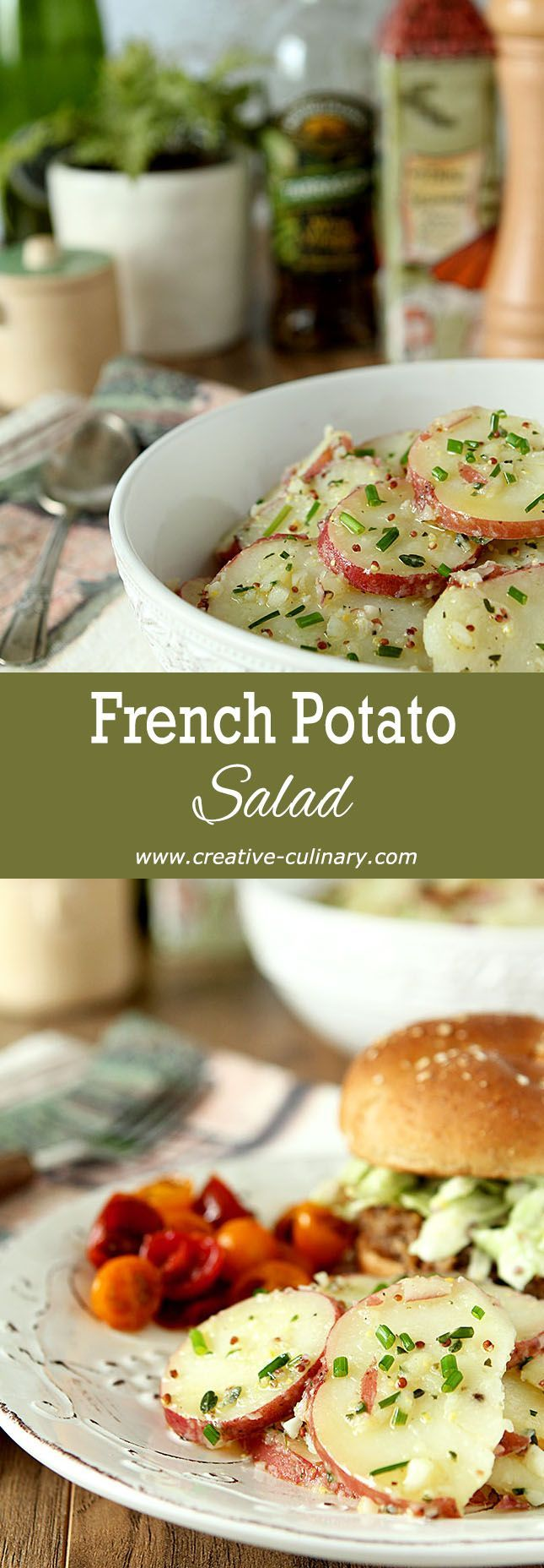 French Potato Salad via @creativculinary
