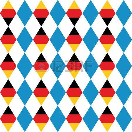 Modelo inconsútil de la Oktoberfest de azul rombo. Bandera alemana en forma de rombo. Vector de fondo para el Festival de la Cerveza en Alemania.