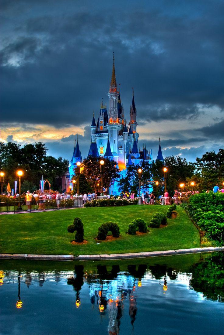 Замок золушки Волшебное Королевство Disney World