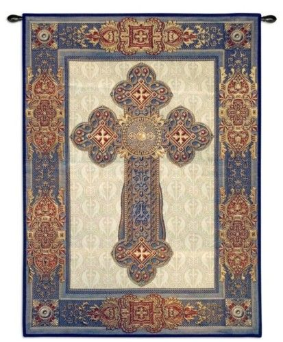 gothic cross medieval art decor tapestry wall hanging ebay