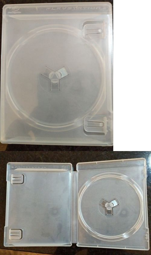 Video Games & Consoles Ps3 Clear Case Empty Game Box black