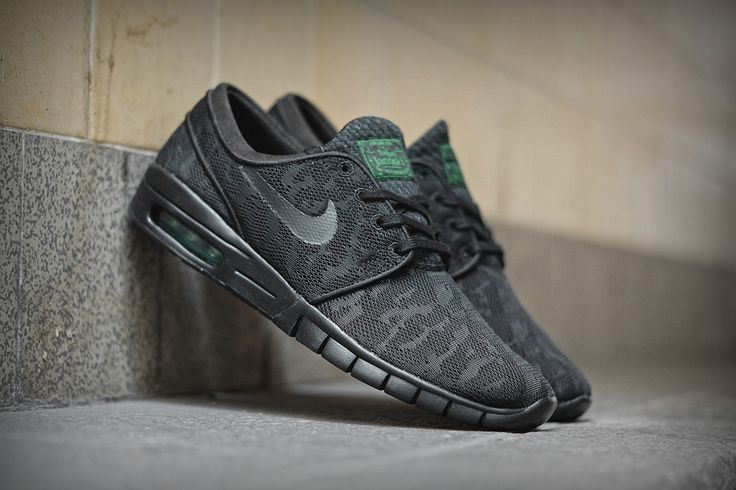 "Nike SB Stefan Janoski Max ""Black & Pine Green"" 