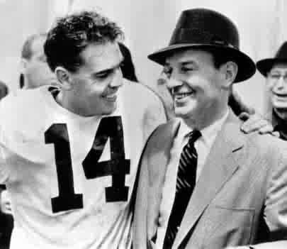 Otto Graham and Paul Brown