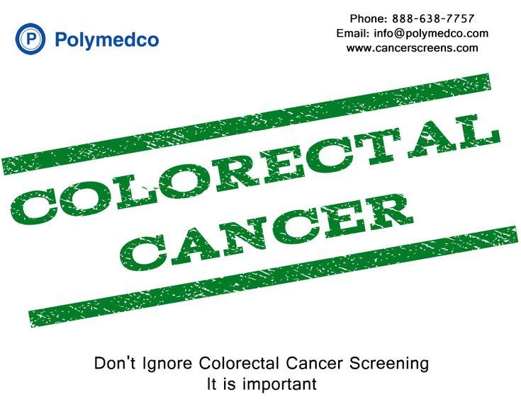 Dont ignore colorectalcancerscreening it is important