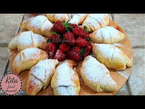 ROGALIKI DROŻDŻOWE z czekoladą i truskawkami | rita food channel - YouTube