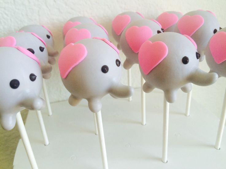 Elephant Cake Pops | Baby Shower Cake Pops