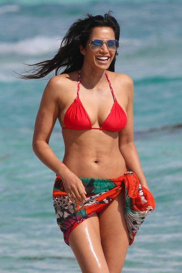 Top Chef host Padma Lakshmi looks red hot in a bikini as ...