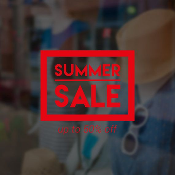 Summer sale self adhesive window sign removable vinyl decal seasonal shop window sticker
