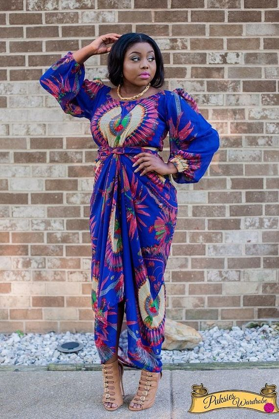 African Wrapper with top by FashionAfrican on Etsy