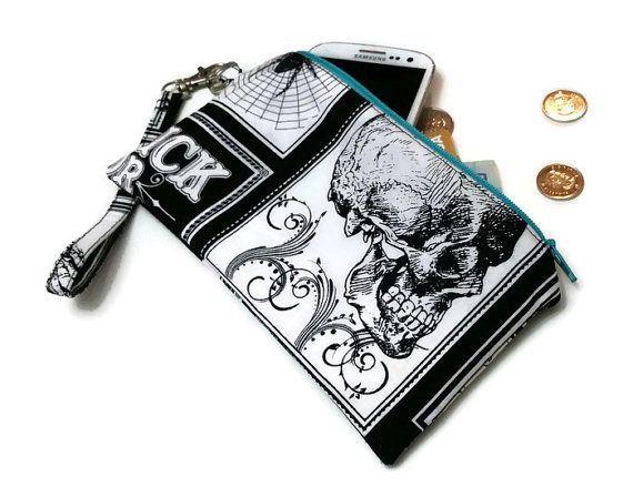 Going out this Halloween? This skull cell phone clutch would be perfect!