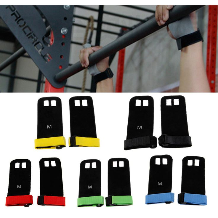 Wrist Wraps &Workout Gloves, Synthetic Leather Hand Grip Crossfit Guard Palm Protectors, Pull Up Bar