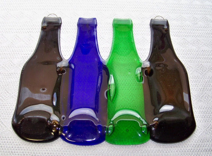 Melted beer bottles things i want to do pinterest - How do you melt glass bottles ...
