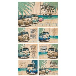 Lisa Pollock Vintage Kombi placemats and coasters, set of 6
