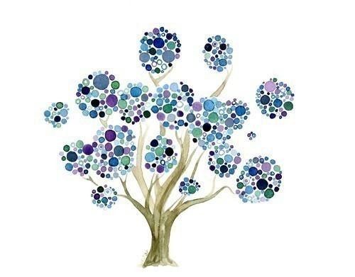 Tree watercolor print