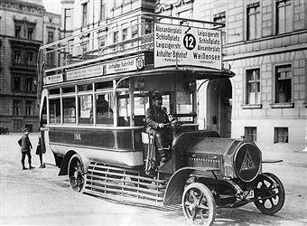 Berlin 1914 Omnibus Linie 12 (Weissensee-Anhalter Bahnhof)
