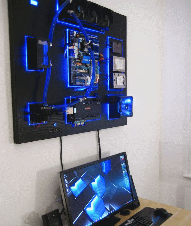 This Wall Mounted Water Cooled Pc Rocks Cpu S Gaming