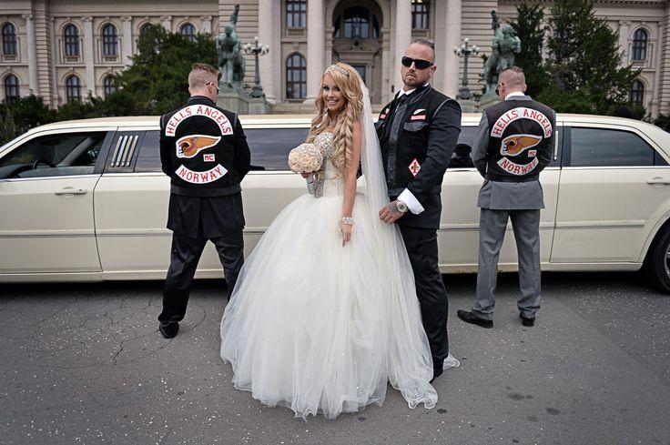 Norwegian Hells Angels wedding in Serbia