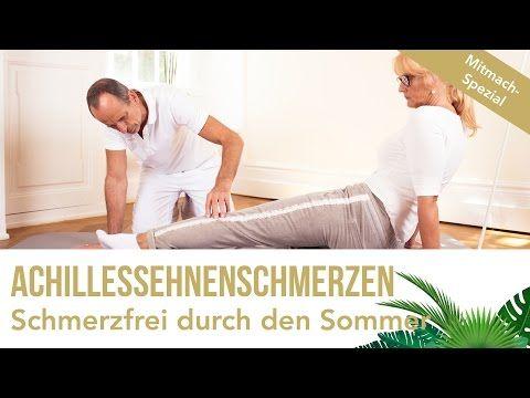 Achillessehnenschmerzen - Übungen zum Mitmachen | Schmerzfrei durch den Sommer | Faszien-Training - YouTube