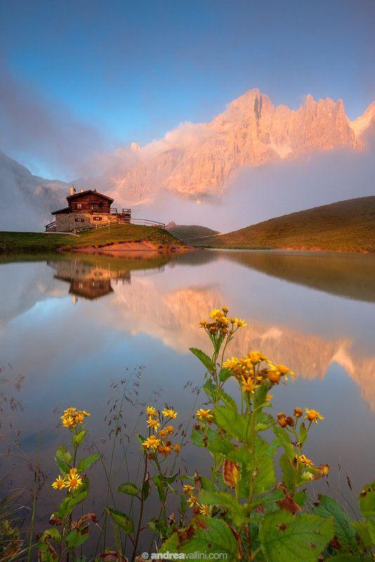 ~~My dream house ~ Baita Segantini and Pale di San Martino during a summer sunset. Dolomiti, Italy by Andrea Vallini~~