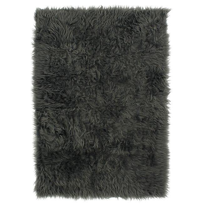 Bundchen Tapis imitation fourrure 100x150cm gris foncé