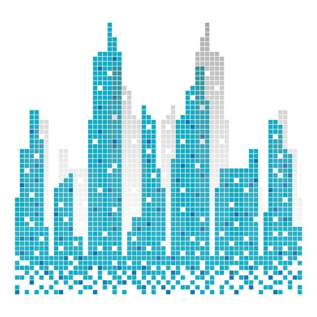 City Skyline Building Pixels Illustration Vector Architecture Skyline Urban Png And Vector With Transparent Background For Free Download Voyage Images