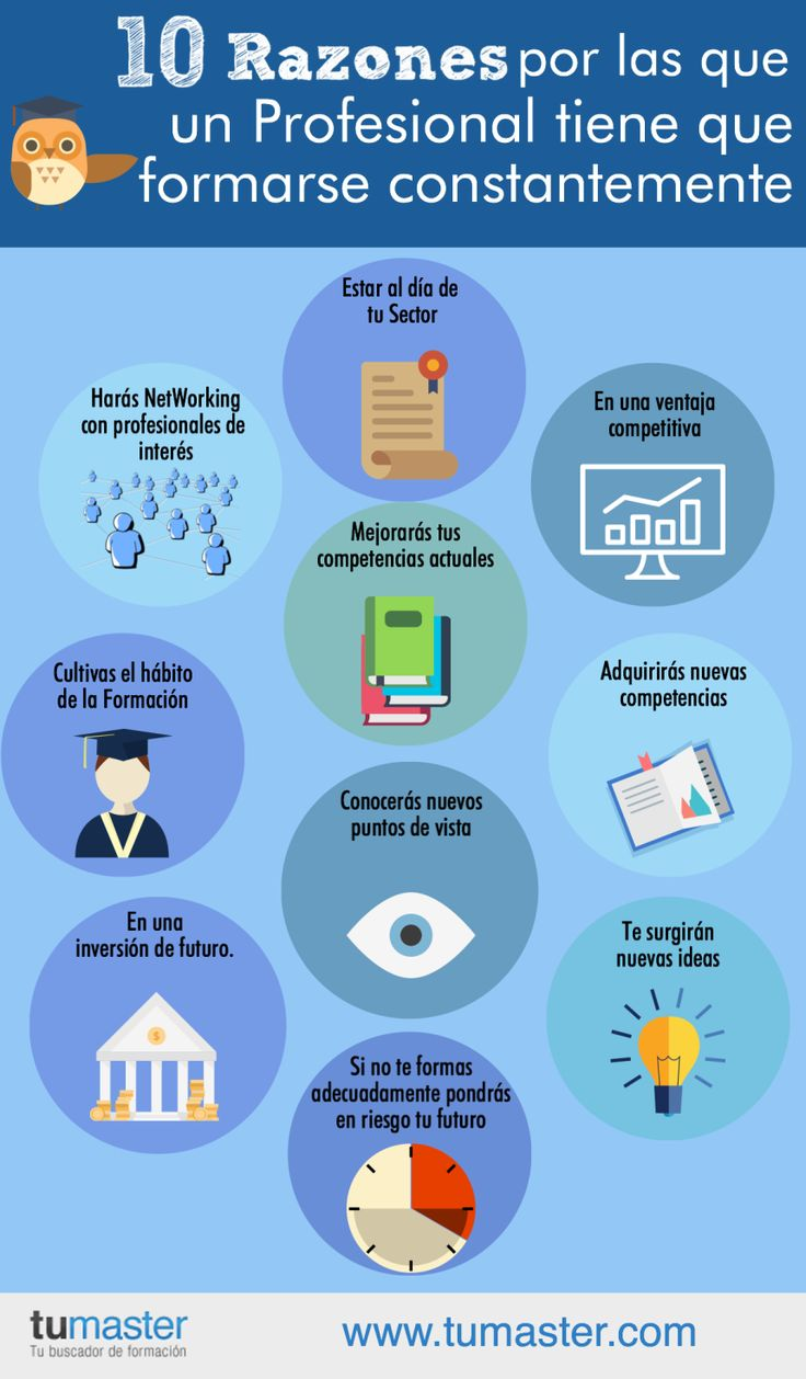 10 razones por las que un profesional debe formarse constantemente #infografía