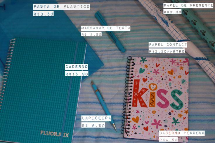 material escolar preço Como personalizar caderno