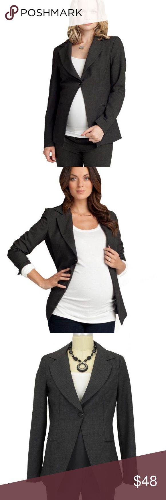 Ingrid & Isabel Maternity  One Button Blazer Never worn this. Didn't know it was a maternity blazer when I bought it. Isabel One Button Maternity Blazer (Charcoal Heather). A modern, contemporary maternity blazer featuring a single button closure with a tailored, slim fit. Notched collar Fully lined with a tailored shape Faux pockets Pair with our tailored trouser or even denim for a chic, casual look. Ingrid & Isabel Jackets & Coats Blazers