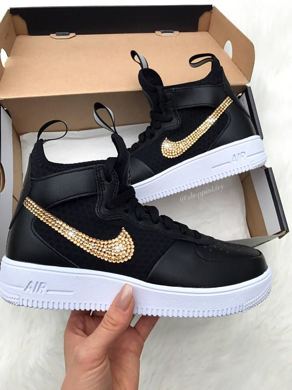 Swarovski Nike Air Force 1 Ultraforce Women s Shoes Blinged Out With ... 436e9dd65e