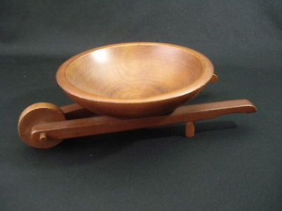 Vintage wood wheelbarrow bowl farmhouse by ThisThatAndTheGoods