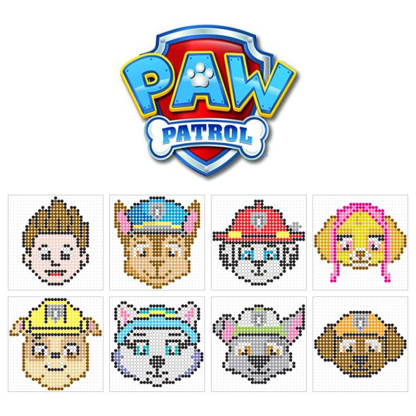 Billedresultat For Paw Patrol Perler Beads Basteln Bugelperlen Paw Patrol Abzeichen Perlenmuster