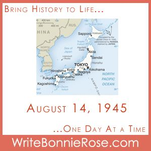 Timeline Worksheet: August 14, 1945, V-J Day! Japan Surrenders in WWII. Today, we remember August 14, 1945, the date when Japan surrendered in World War II. I've created a matching worksheet to see what you remember from your studies about Japan in World War II.