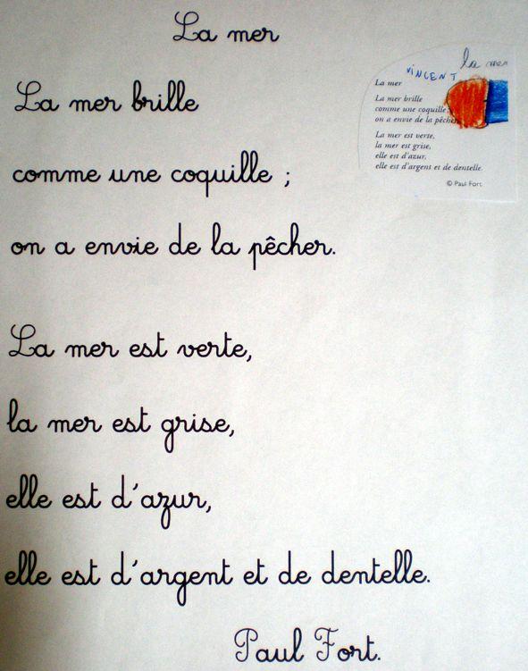 Ecole de BOUST - Quelques poésies écrites par les CE1, les CE2 et les CM2