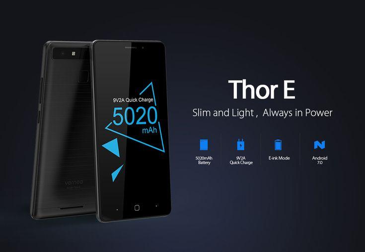 Manque la Bande 700 Vernee Thor E 5 pouces HD 1280 x 720 3Go Ram 16Go Rom slot micro SD batterie 5020mAh lecteur d'empreintes en précommande à moins de 104€.  Mode i-ink
