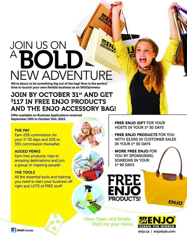 Join my team by October 31, 2013 and receive $177.00 worth of free products in an awesome tote bag.
