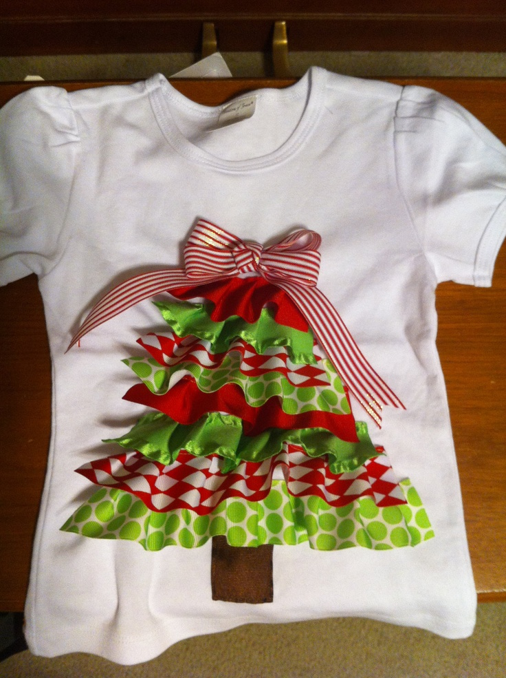 Christmas Tree Ribbon Shirt. $20.00, via Etsy.