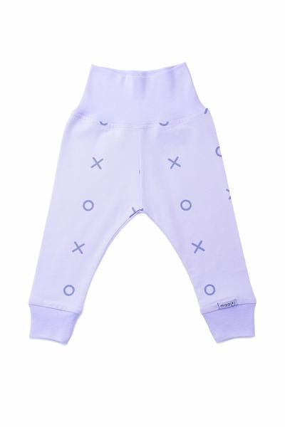 baby leggings with xoxo printed in blue